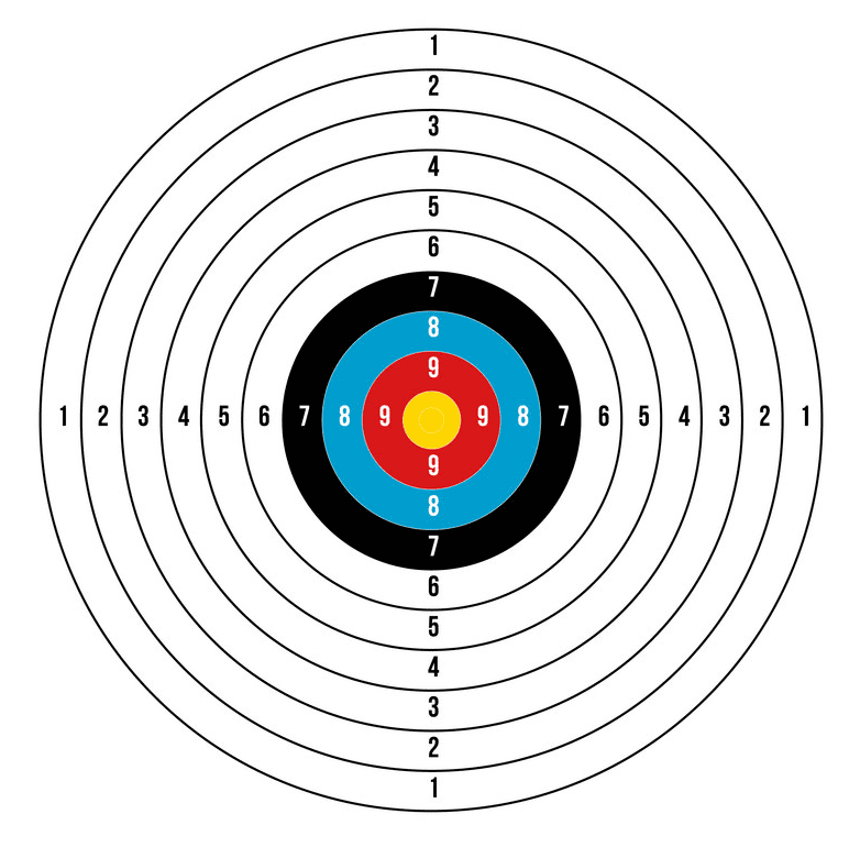 Archery Target clipart png picture