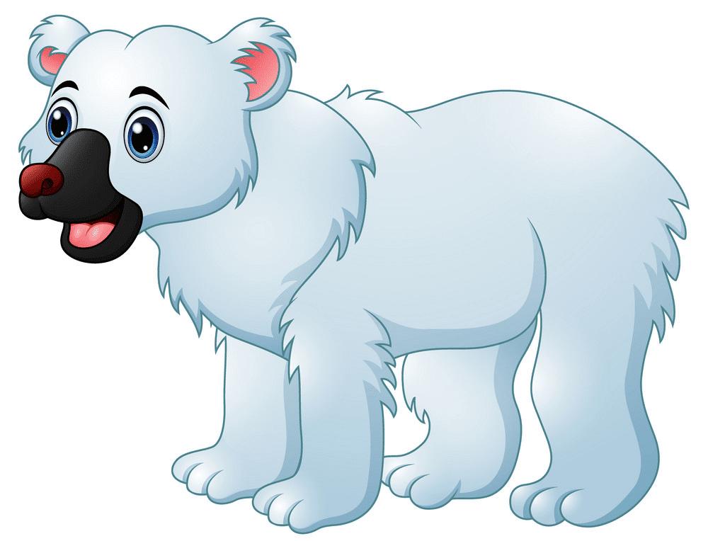 Baby Polar Bear clipart free