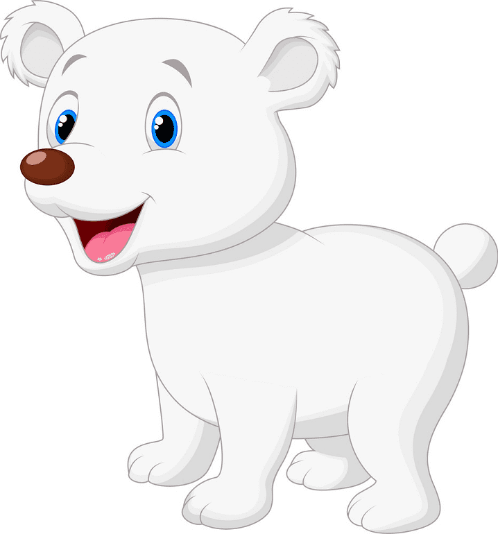Baby Polar Bear clipart png
