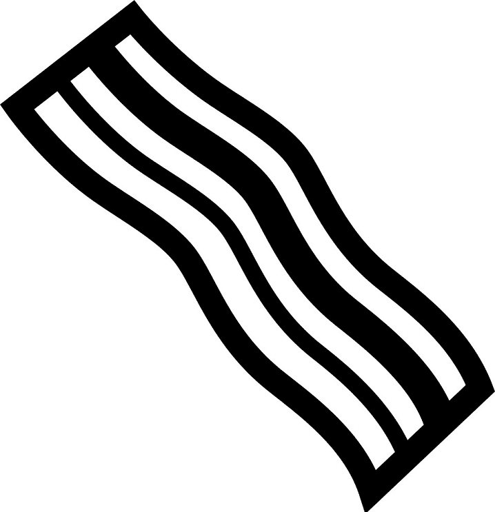 Bacon Clipart Black and White free