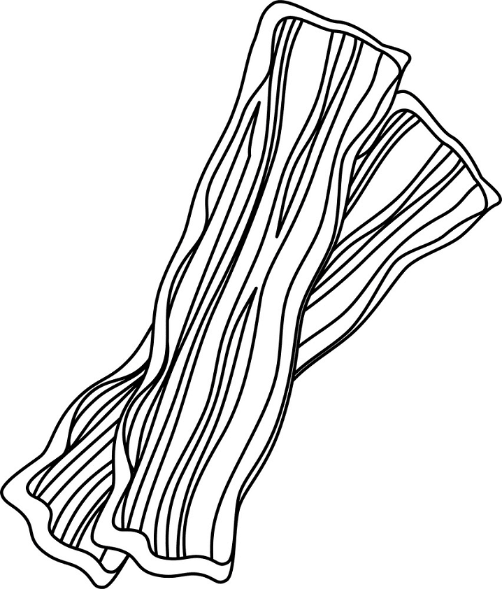 Bacon Clipart Black and White png