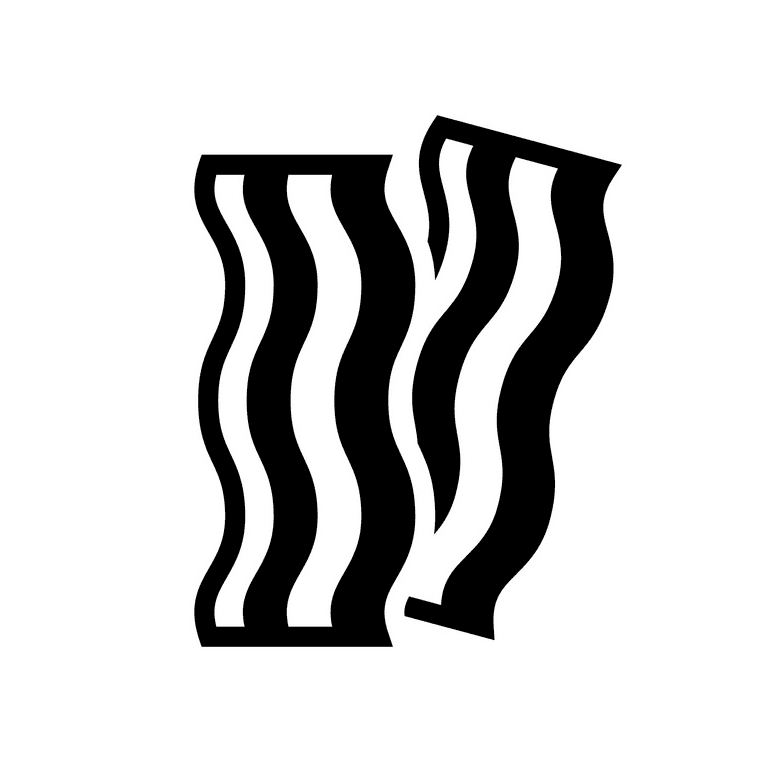 Bacon Clipart Black and White