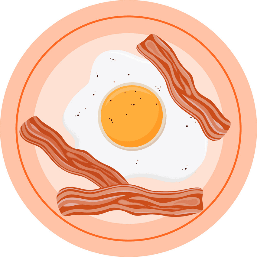 Bacon and Egg clipart for free