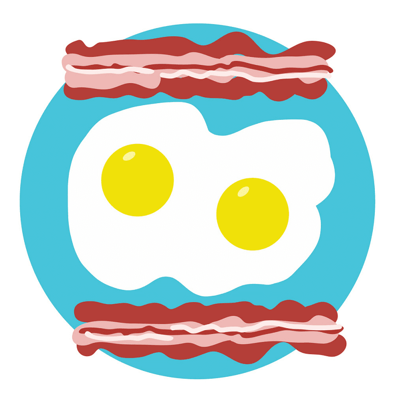 Bacon and Egg clipart for kid