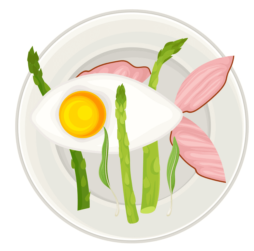 Bacon and Egg clipart for kids