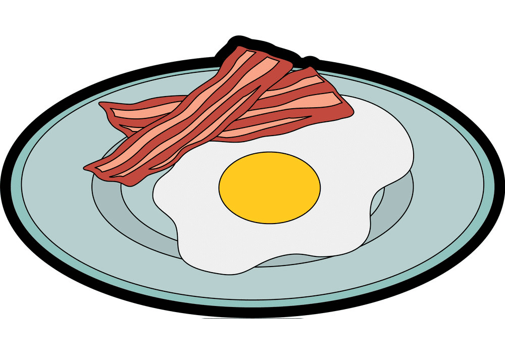 Bacon and Egg clipart images
