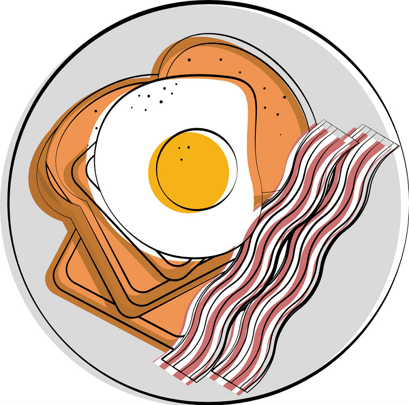 Bacon and Egg clipart picture