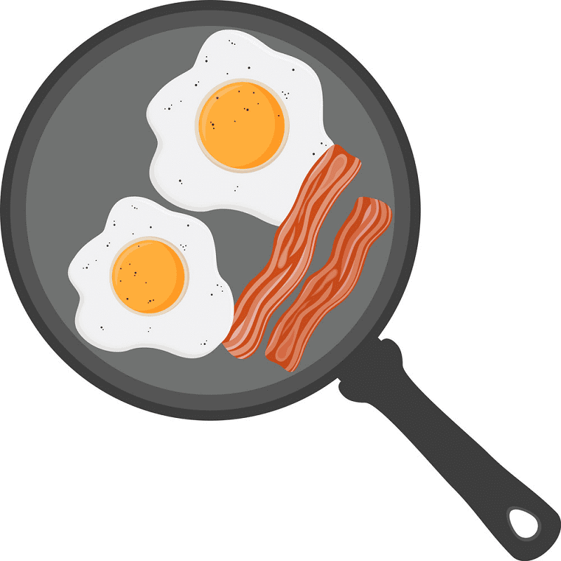 Bacon and Eggs clipart for free