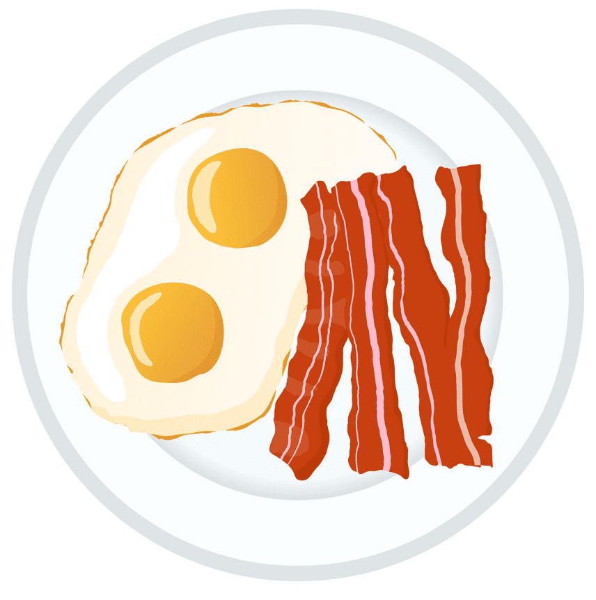 Bacon and Eggs clipart free