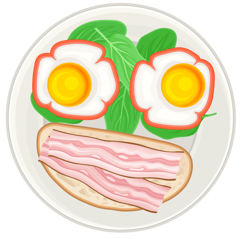 Bacon and Eggs clipart image