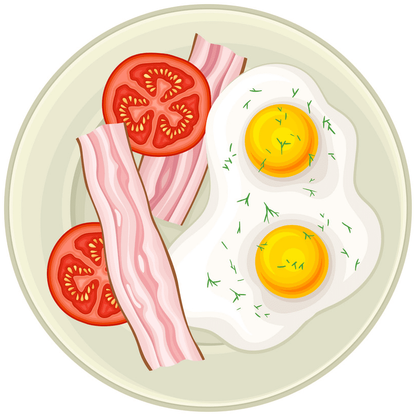 Bacon and Eggs clipart images