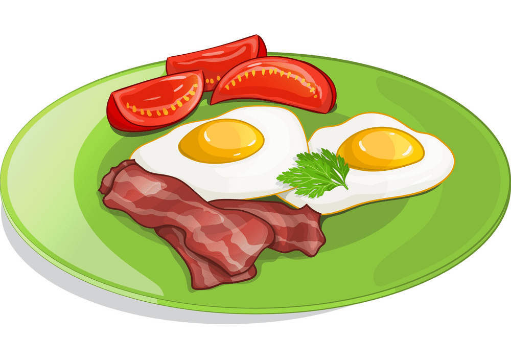 Bacon and Eggs clipart png