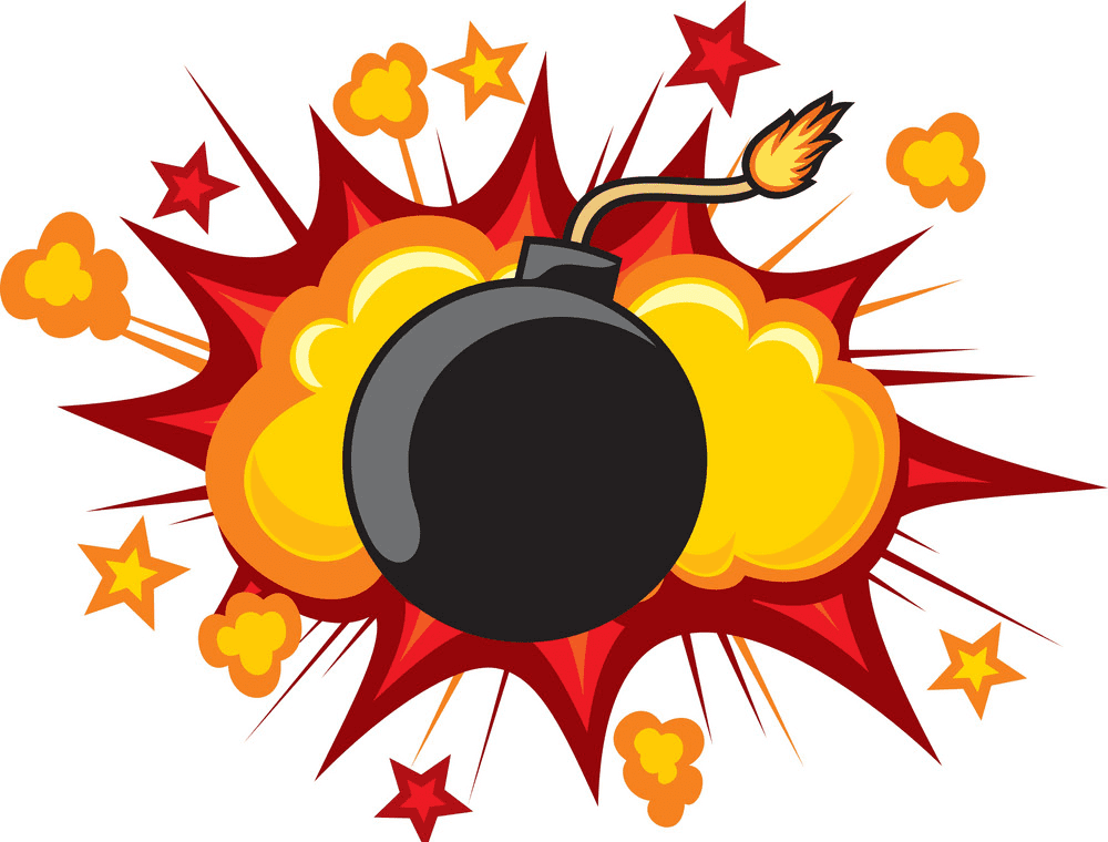Bomb Explosion clipart for free