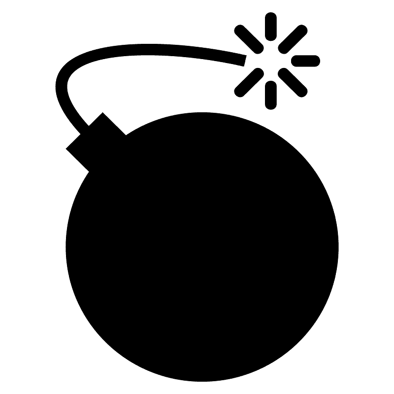 Bomb clipart transparent background 5