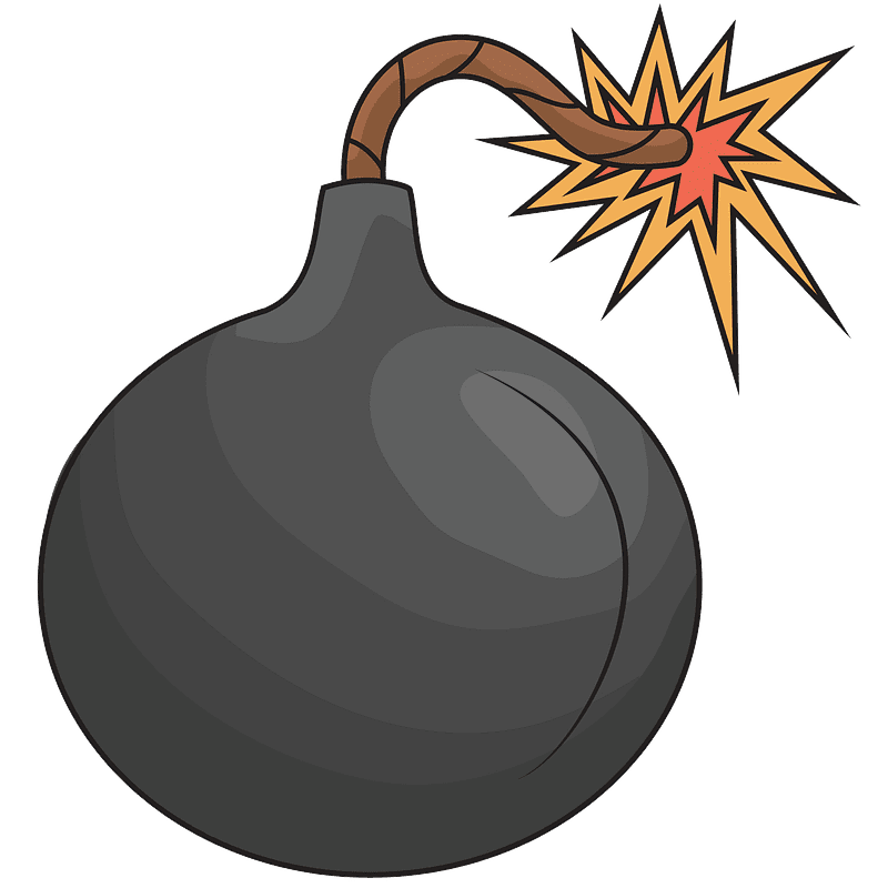 Bomb clipart transparent for kids