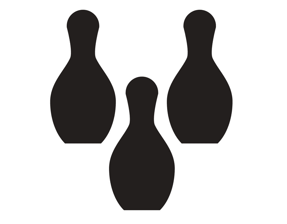 Bowling Pins clipart for kids