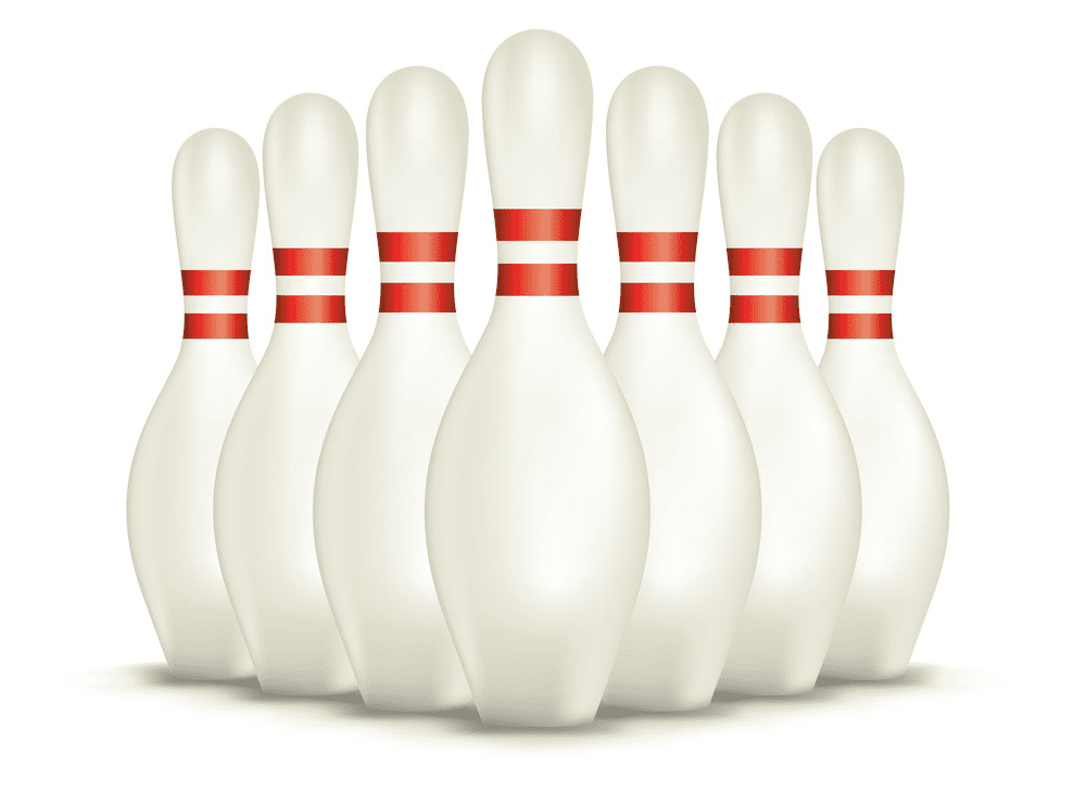 Bowling Pins clipart free
