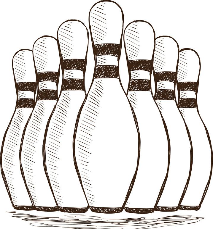 Bowling Pins clipart image