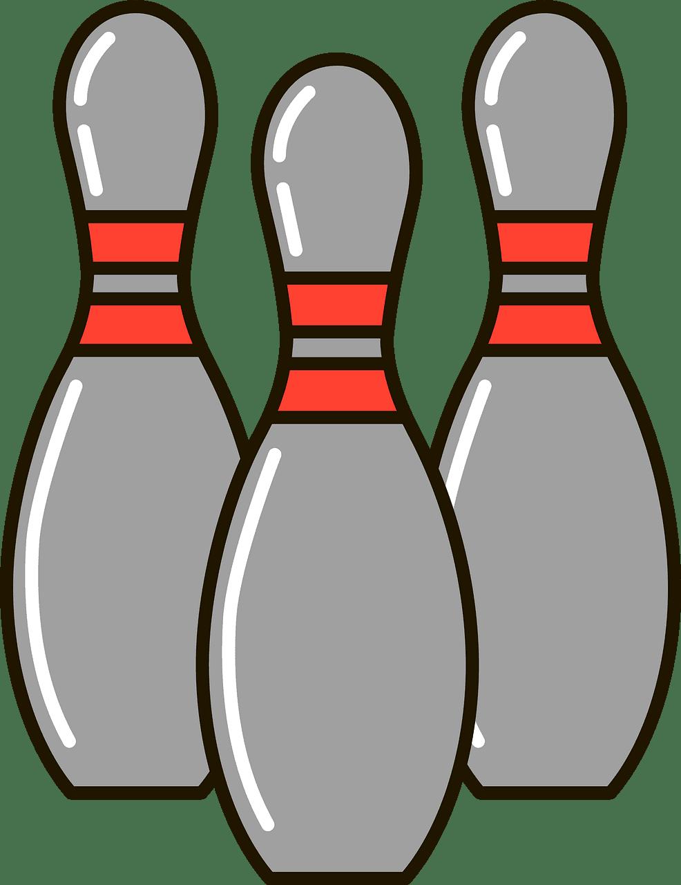 Bowling Pins clipart transparent