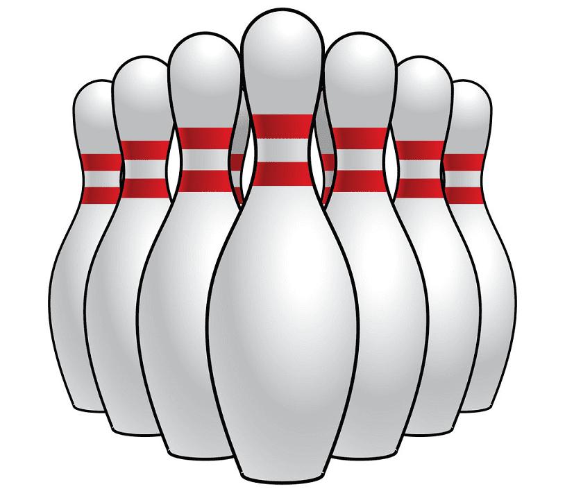 Bowling Pins clipart