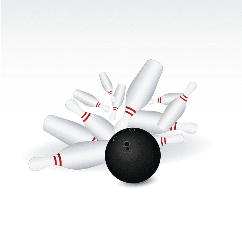 Bowling Strike clipart free