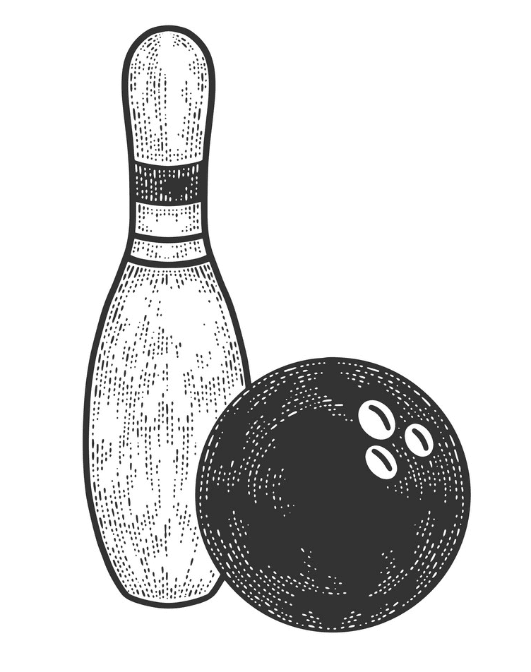 Bowling clipart free picture