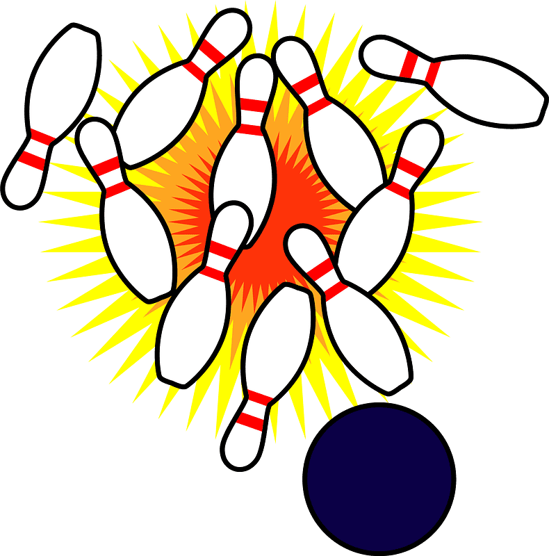 Bowling clipart transparent 10