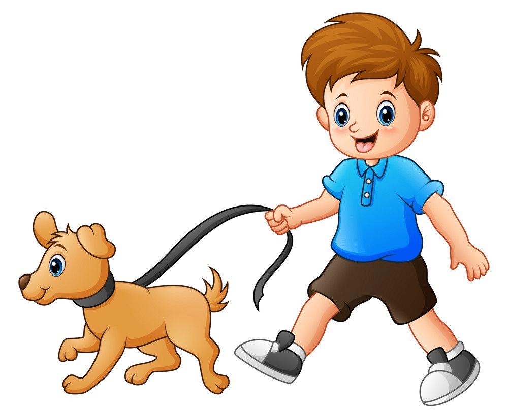 Boy Walking clipart