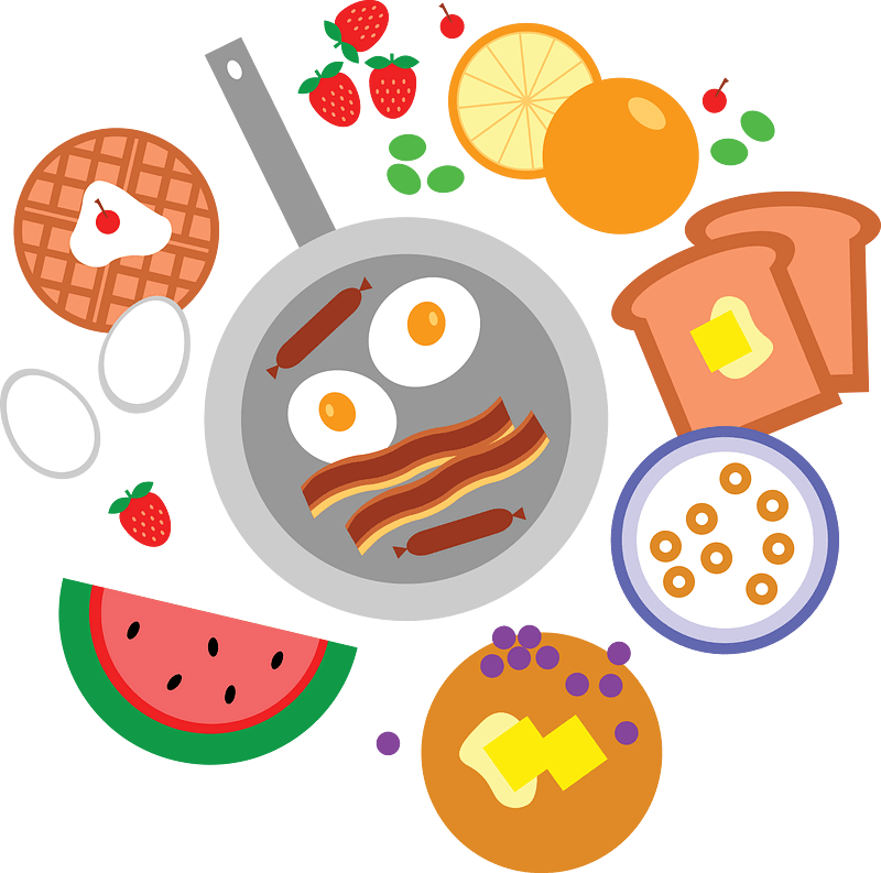 Breakfast clipart transparent for free