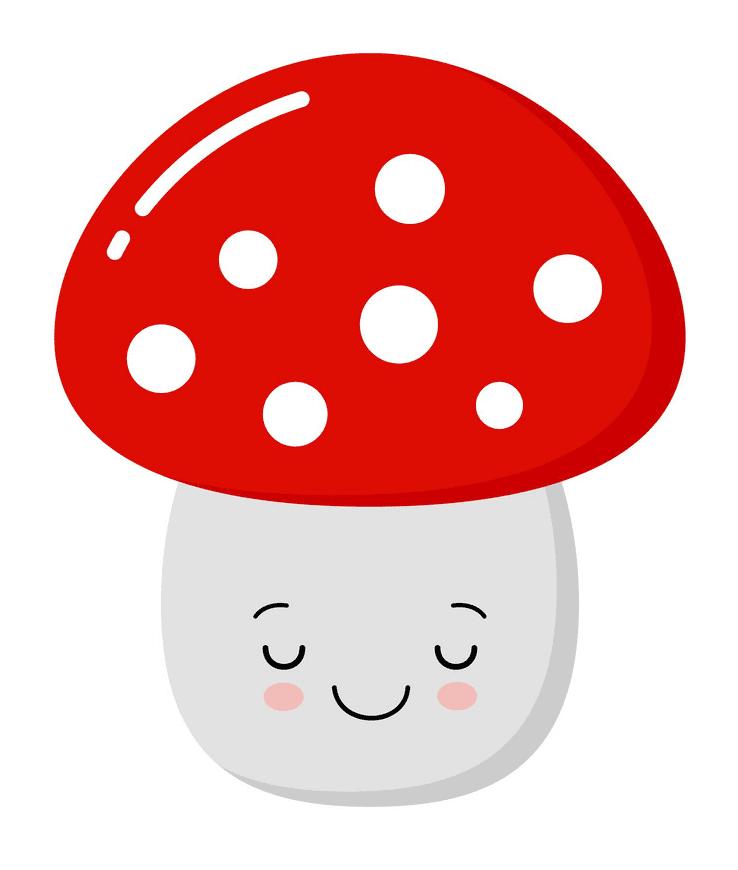 Cute Mushroom clipart for free