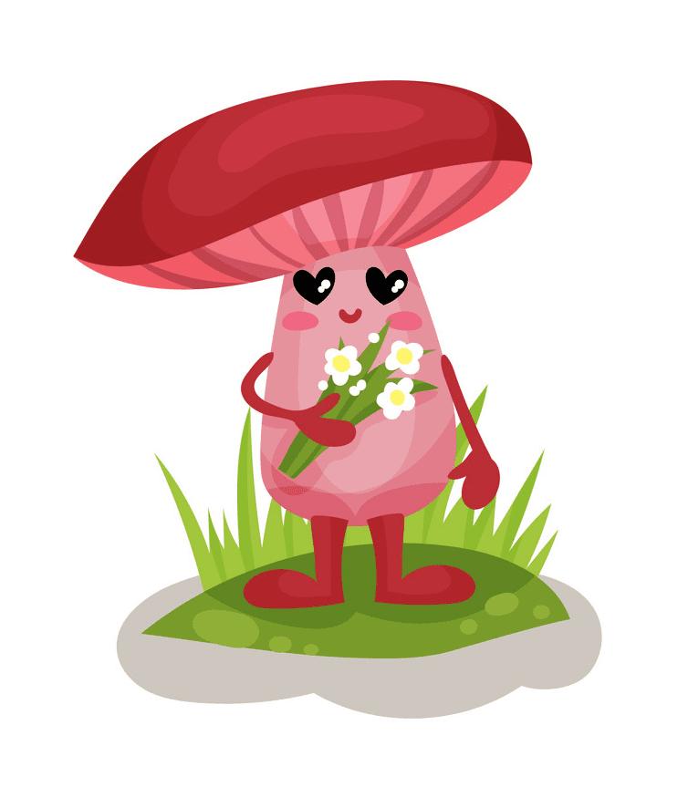 Cute Mushroom clipart images