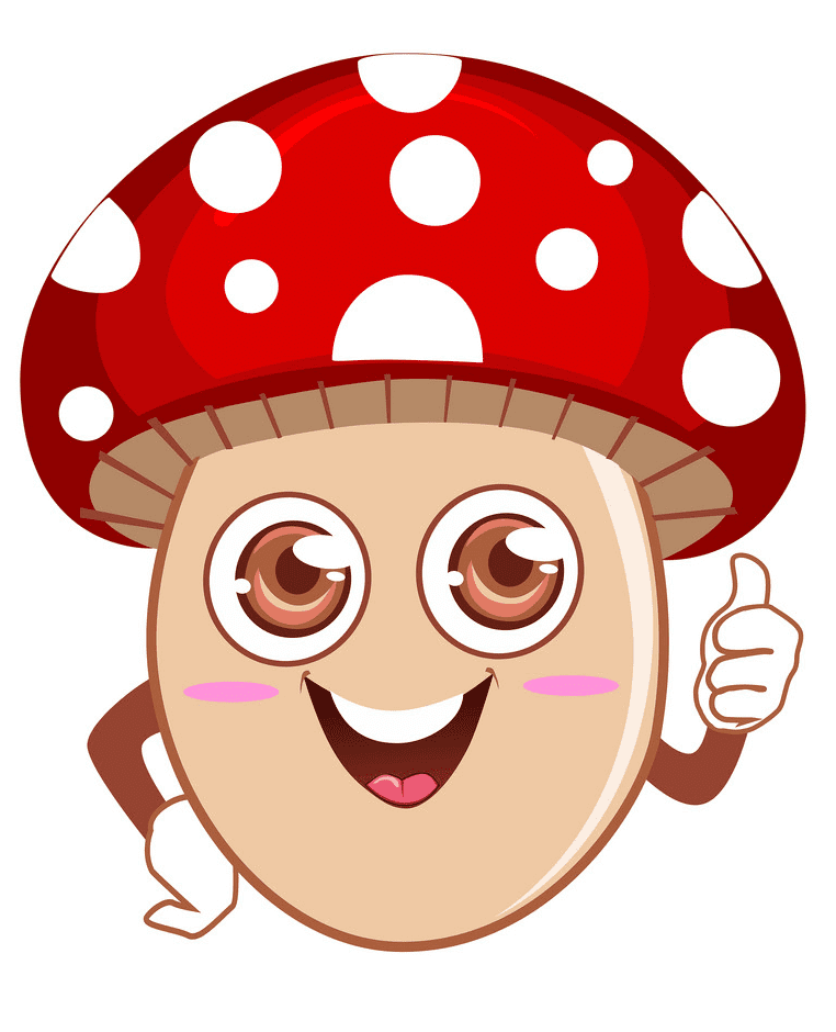 Cute Mushroom clipart png images