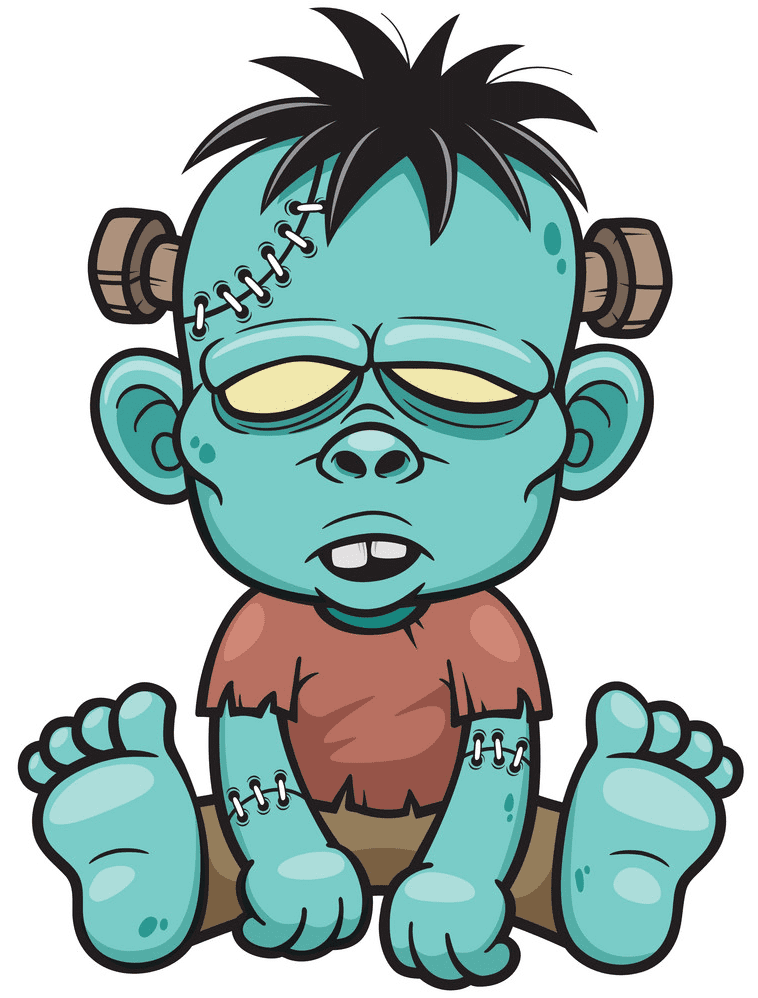 Cute Zombie clipart for free