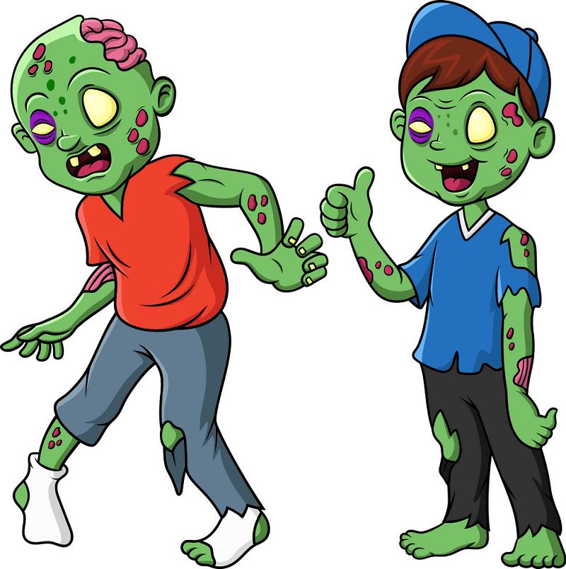 Cute Zombie clipart