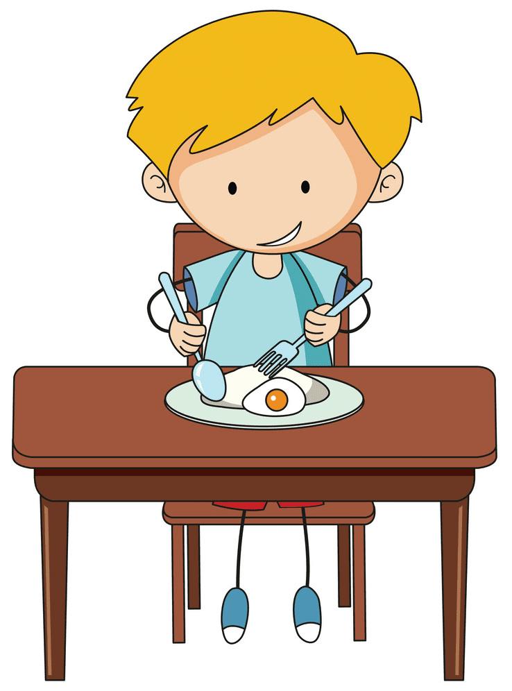 Eating Breakfast clipart 1