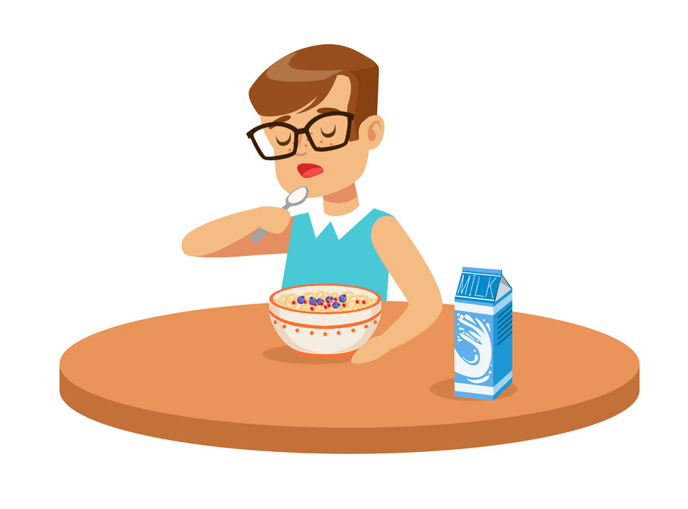 Eating Breakfast clipart free download