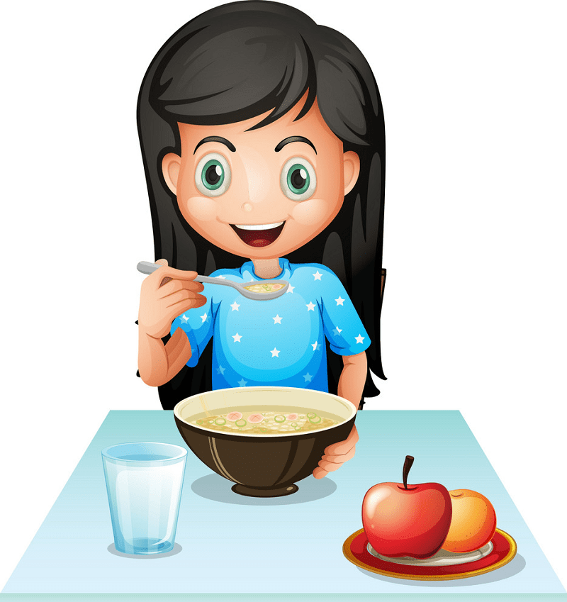 Eating Breakfast clipart free image