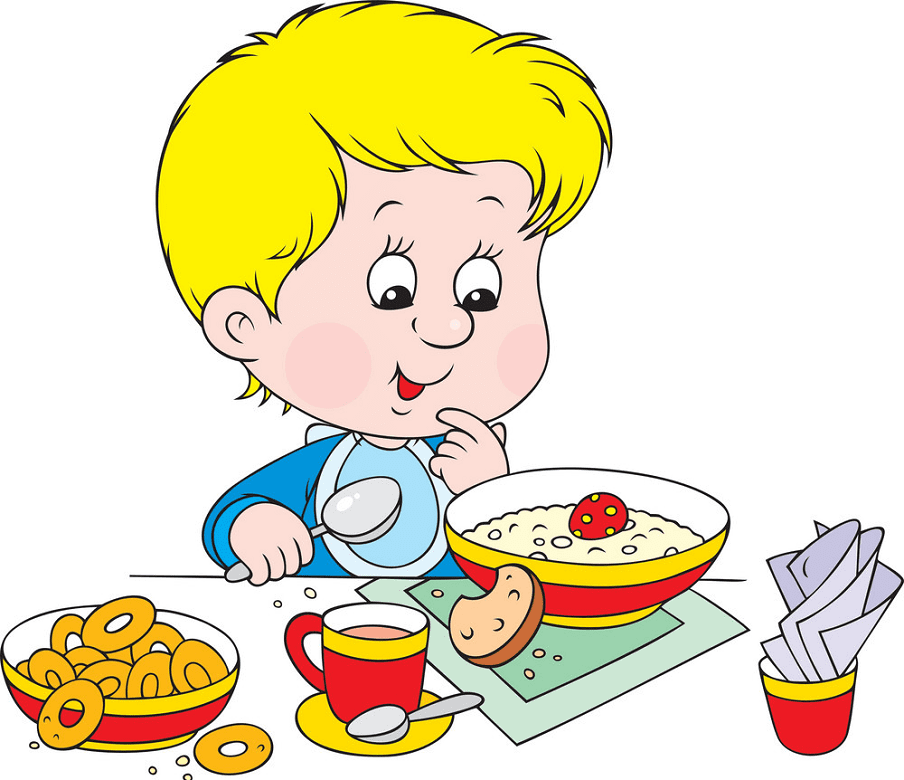 Eating Breakfast clipart free images