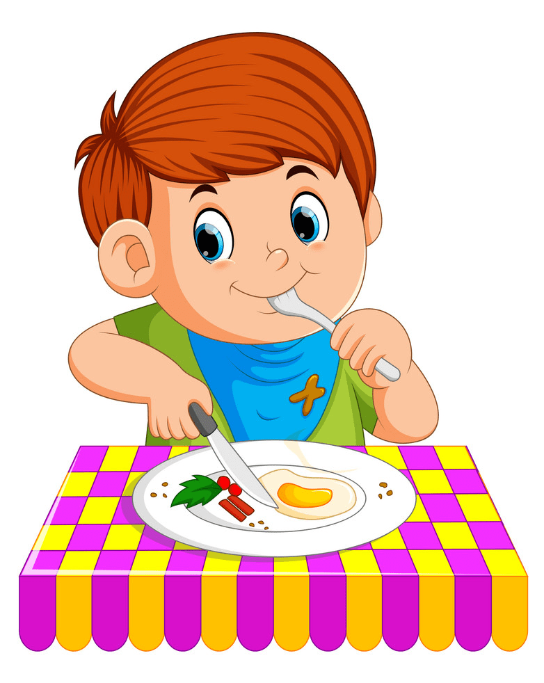 Eating Breakfast clipart free