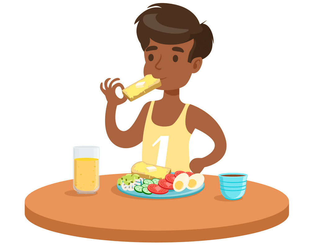 Eating Breakfast clipart image
