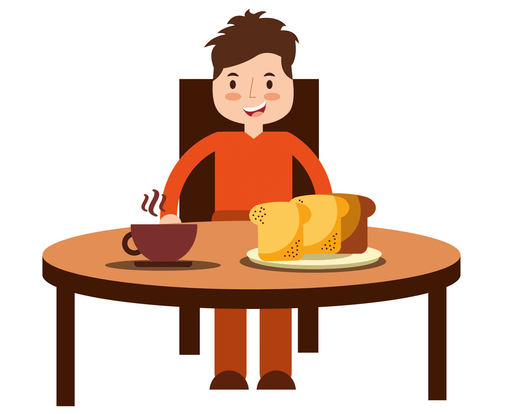 Eating Breakfast clipart picture
