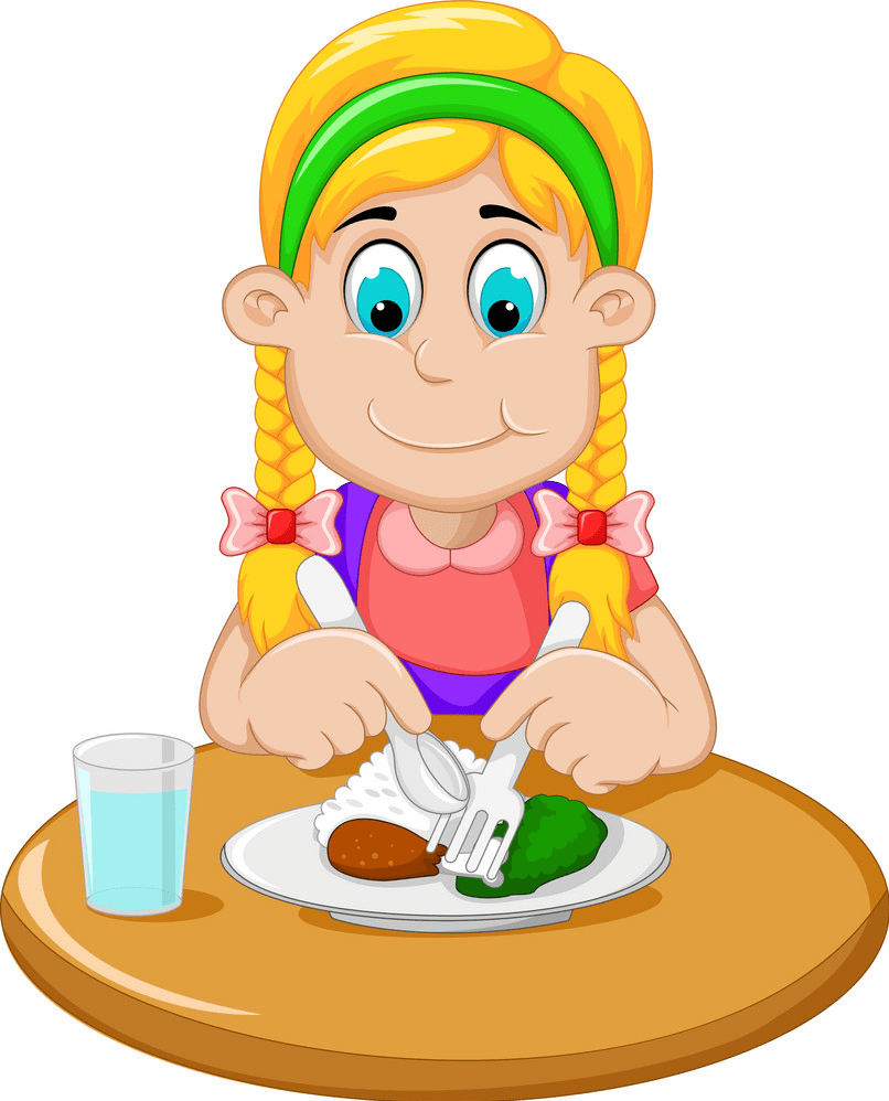 Eating Breakfast clipart png 1