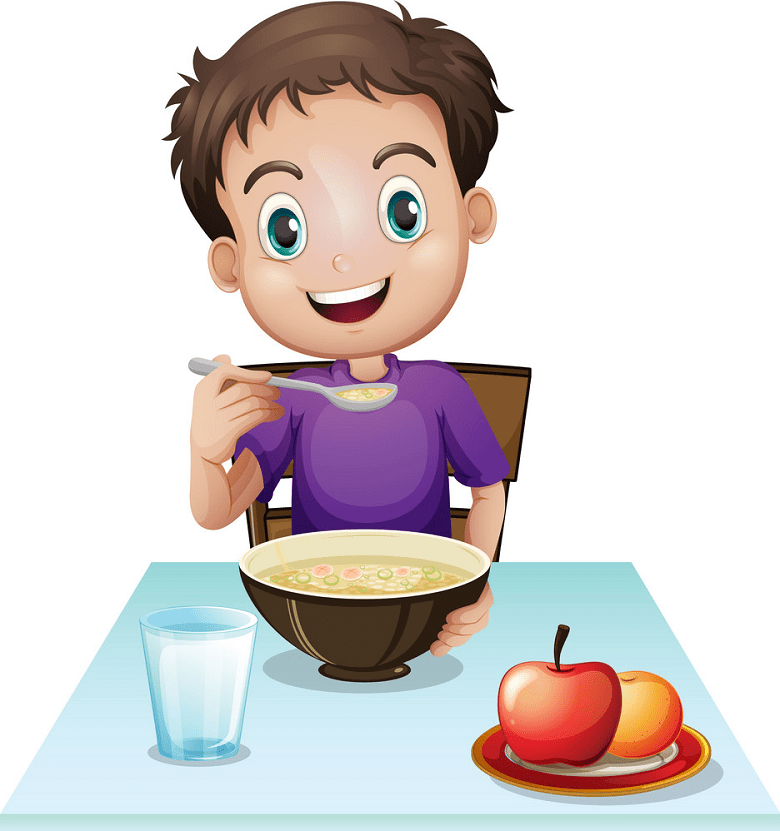 Eating Breakfast clipart png download