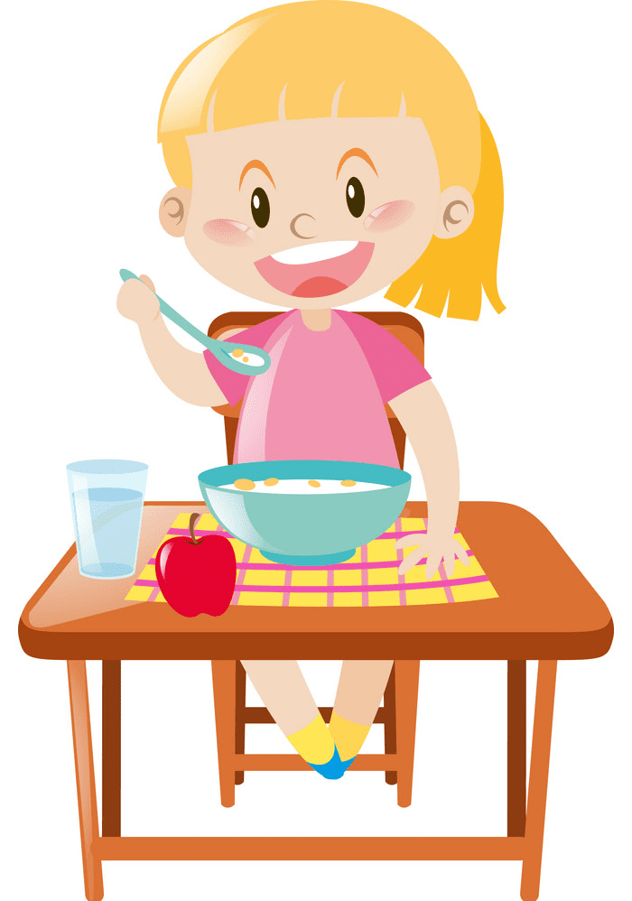 Eating Breakfast clipart png free