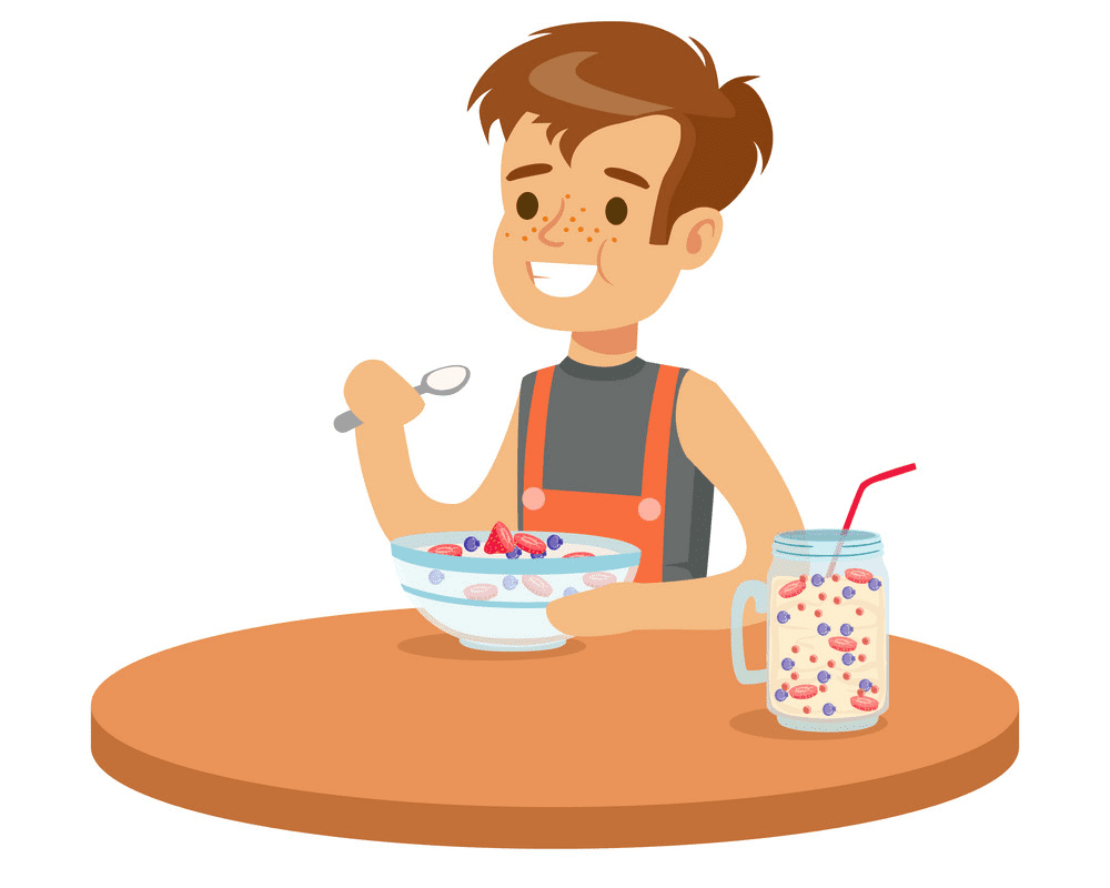 Eating Breakfast clipart png image