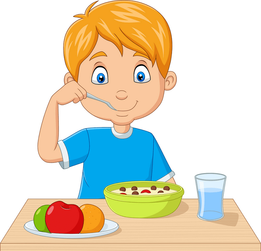 Eating Breakfast clipart png