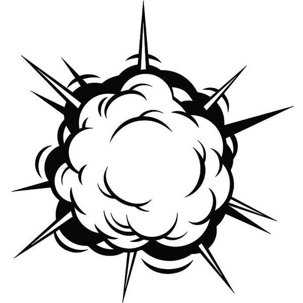 Explosion Clipart Black and White