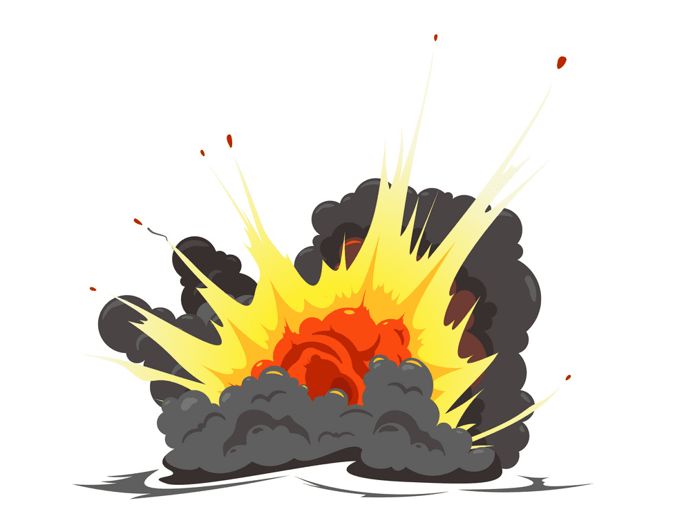 Explosion clipart 1