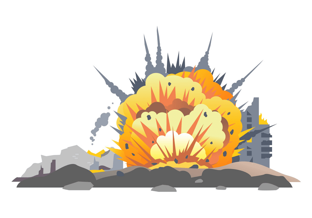 Explosion clipart 2