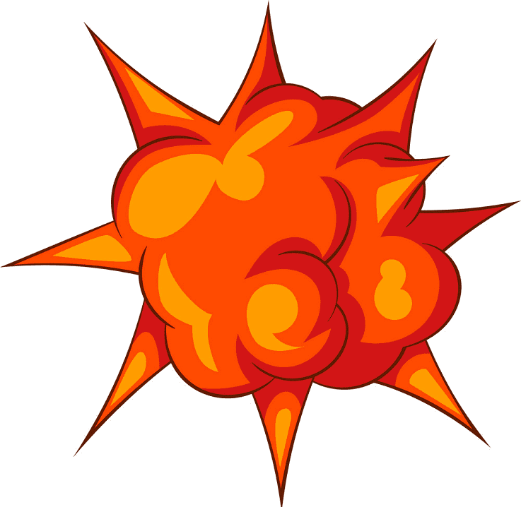 Explosion clipart 3